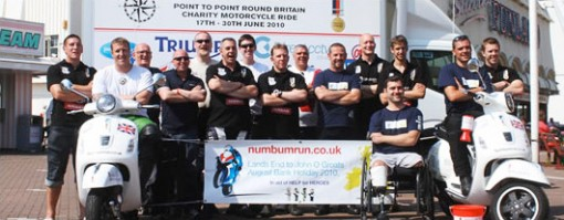Round Britain motorcycle ride for charity