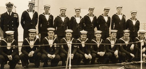 Line-up of sailors