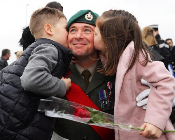 Father in the Royal Marines with his family