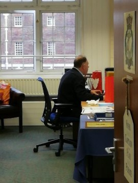 General Secretary Captain Bill Hard At Work In His Office