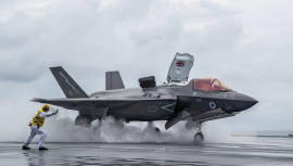 British F 35 Lightning From The Qe