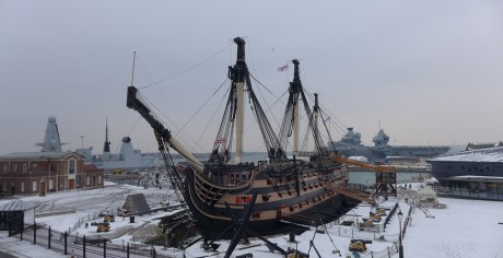 Hms Victory And Hms Queen Elizabeth March 2018