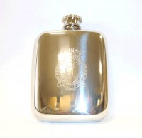 Pewter hip flask