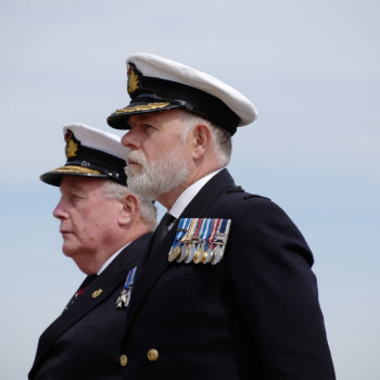 National President Vice Admiral John Mcanally And General Secretary Capt Bill Oliphant