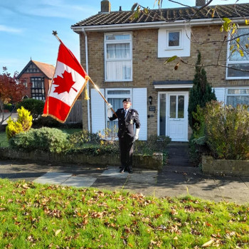 Shipmate Steve Susans Bromley Branch Parading The Canadian Standard
