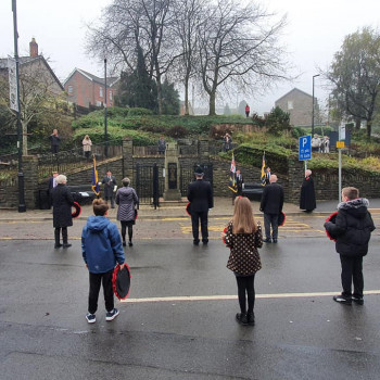 Tonypandy Remembrance Socially Distanced