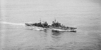Wartime Hms Sheffield In Scapa Flow